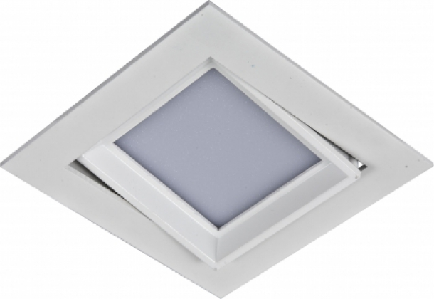 Встраиваемый/точечный светильник коллекция Arctica, 369726, золото/хрусталь Novotech (Новотех)