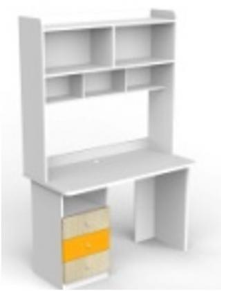 Стол рабочий с полками прямой - каталог товаров - planium.