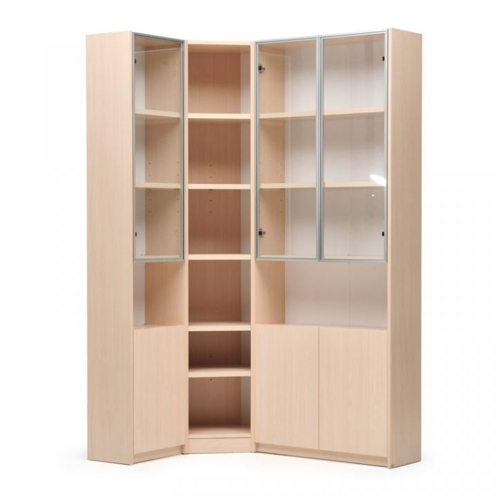 Шкаф книжный угловой 4-секционный - каталог товаров - planiu.